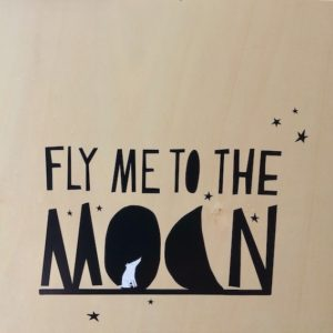"Sticker noir ""Fly me to the moon"" 