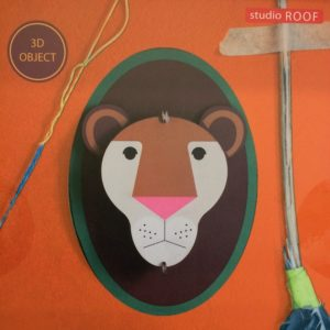 trophée-lion-animal-jungle-decoration-murale-carton-recyclé-studioroof-les-ptits-bobos