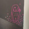 sticker-lapin-fluo-fon-anthracite